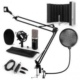 Auna auna CM003 mikrofon szett V5 kondenzátoros mikrofon, USB-konverter, fekete