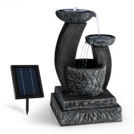 Blumfeldt Fantaghiro, díszszökőkút, kerti szökőkút, 3W, napelemes, LED polireszin, kő hatás