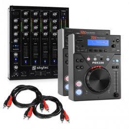 """Electronic-Star """"CD DJ Starter"""", DJ szett, 4 csatornás keverőpult"""