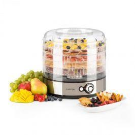 Klarstein Fruitower M gyümölcsszárító gép, 35-70°C, 5 polc, 200-240 W, nemesacél