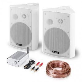 Skytec Bluetooth Play WH, PA HiFi készlet, két hangfal, mini erősítő bluetooth-tal, kábel