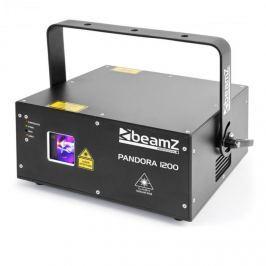 Beamz Pandora 1200 TTL RGB lézer, 12/23 DMX csatorna, 4 lézer osztály, fekete
