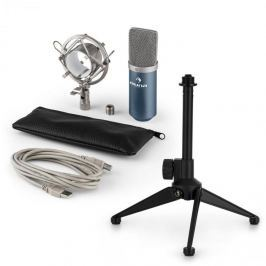 Auna MIC-900BL V1 USB mikrofon szett, kék kondenzátor mikrofon | asztali állvány