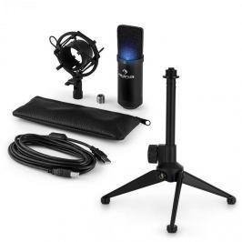 Auna auna MIC-900B-LED V1 USB mikrofon szett, fekete kondenzátor mikrofon | asztali állvány