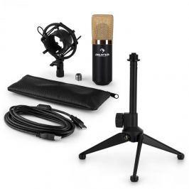 Auna auna MIC-900BG-LED V1 USB mikrofon szett, kondenzátor mikrofon | asztali állvány