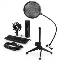 Auna auna MIC-900B V2, USB mikrofon készlet, kondenzátoros mikrofon + pop szűrő + asztali állvány