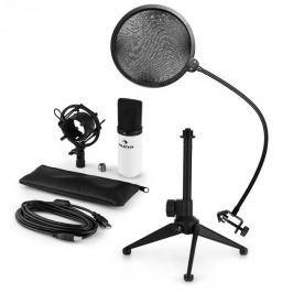 Auna auna MIC-900WH V2, USB mikrofon készlet, kondenzátoros mikrofon + pop szűrő + asztali állvány