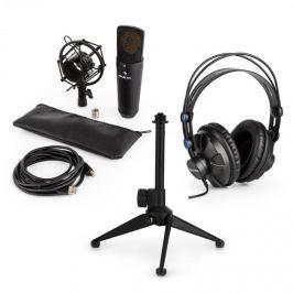 Auna auna MIC-920B USB mikrofon készlet V1 fülhallgató, kondenzátoros mikrofon, állvány