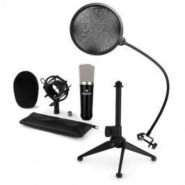 Auna auna CM003 mikrofon készlet V2 kondenzátoros mikrofon XLR, mikrofon állvány, pop szűrő