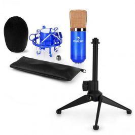 Auna auna CM00BG mikrofon készlet V1 - fekete-arany stúdió mikrofon pókkal és asztali állvánnyal
