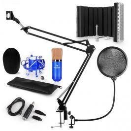 Auna CM001BG mikrofon készlet V5, kondenzátoros mikrofon, USB-adapter, mikrofonkar, pop szűrő, panel