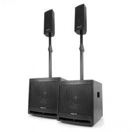 """Vonyx VX1000BT 2.2-es aktív hangfal készlet, 1000 W, 10""""-es mélynyomó, BT, USB, SD, MIC, AUX"""
