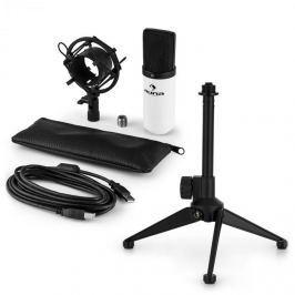 Auna auna MIC-900WH V1 USB mikrofon szett, fehér kondenzátor mikrofon | asztali állvány
