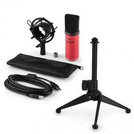 Auna auna MIC-900RD V1 USB mikrofon szett, piros kondenzátor mikrofon | asztali állvány