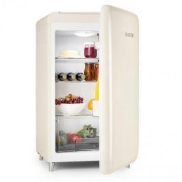 Klarstein PopArt-Bar Creme retró hűtőszekrény, 136 l, 3 emelet, zöldségrekesz, A+, krémszínű