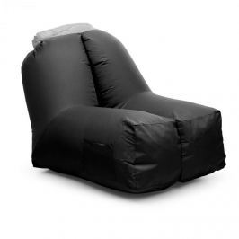 Blumfeldt AIRCHAIR, felfújható karosszék, 80x80x100 cm, hátizsák, mosható, poliészter, fekete
