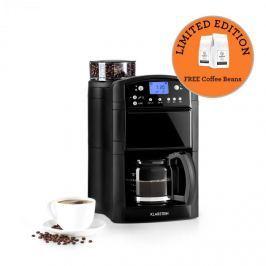 Klarstein Aromatica kávéfőző, daráló, 10 csésze, üveg kancsó, aroma+, fekete