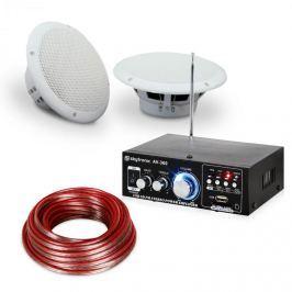"""Electronic-Star 4 részes erősítő és hangfal készlet 5"""" teraszra és fürdőszobai használatra, vízálló"""