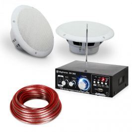 """Electronic-Star 4 részes erősítő és hangfal készlet 6,5"""" teraszra és fürdőszobai használatra, vízálló"""