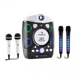 Auna Kara Projectura karaoke rendszer, fekete + Dazzl karaoke mikrofon készlet, LED megvilágítás