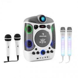 Auna Kara Projectura karaoke rendszer, fehér + Dazzl karaoke mikrofon készlet, LED megvilágítás