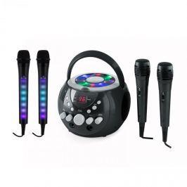 Auna SingSing karaoke rendszer, fekete + Dazzl mikrofon szett, LED megvilágítás