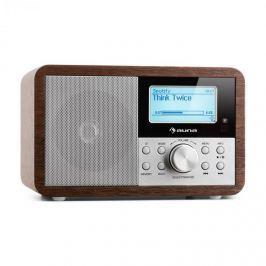 Auna Worldwide Mini internet rádió, WLAN, hálózati lejátszó, USB, MP3, AUX, FM tuner, diófa