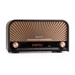 Auna Glastonbury retró sztereó berendezés, DAB+, FM, bluetooth, CD és MP3 lejátszó