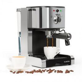 Klarstein Passionata 15 espresso kávéfőző, 15 bar, capuccino, tejhab, ezüst