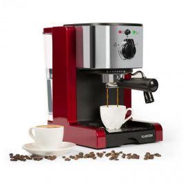 Klarstein Passionata Rossa 20, eszpresszó kávéfőző, 20 bar, kapucsínó, tejhab, piros