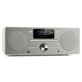 Auna Harvard mikro zenei rendszer, DAB/DAB+, FM tuner, CD-lejátszó, USB töltő, fehér