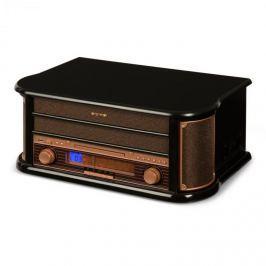 Auna BELLE EPOQUE 1908, retró sztereó rendszer, gramofon, rádió, USB, CD, MP3, mikrorendszer