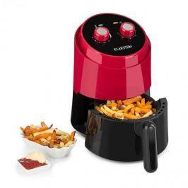 Klarstein Wel Air Fry, meleglevegős olajsütő, 1230W, biztosíték a túlforrósodás ellen, 1,5 l, piros