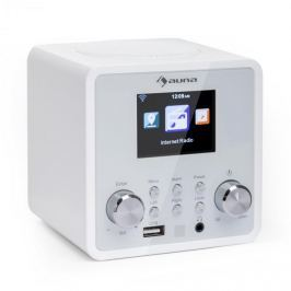 Auna IR-120 internet rádió, WiFi, DNLA, UPnP, app-control, fehér