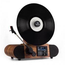 Auna Verticalo DAB retró gramofon, DAB+, FM tuner, USB, BT, AUX, ébresztőóra