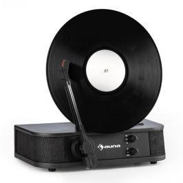 Auna Verticalo S, retró gramofon, vertikális tányér, USB, fekete