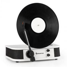 Auna Verticalo S, retró gramofon, vertikális tányér, USB, fehér