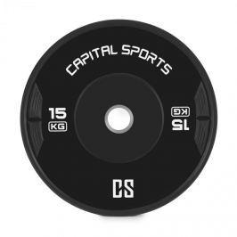 CAPITAL SPORTS Elongate, bumper tárcsa, súly, gumi, 15 kg