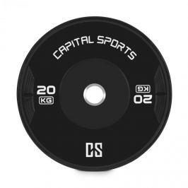 CAPITAL SPORTS Elongate, bumper tárcsa, súly, gumi, 20 kg