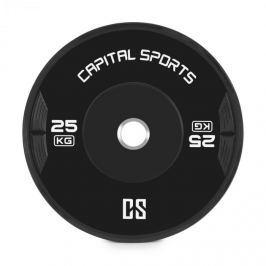 CAPITAL SPORTS Elongate, bumper tárcsa, súly, gumi, 25 kg