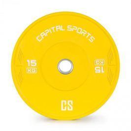 CAPITAL SPORTS Nipton, bumper tárcsa, súly, 1 x 15kg, keményített gumi, sárga