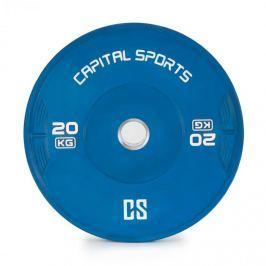 CAPITAL SPORTS Nipton, bumper tárcsa, súly, 1 x 20 kg, keményített gumi, kék
