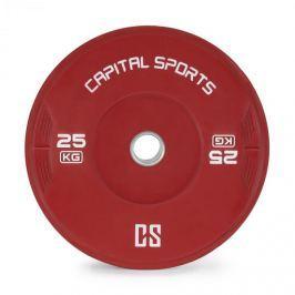 CAPITAL SPORTS Nipton, bumper tárcsa, súly, 1 x 25kg, keményített gumi, piros