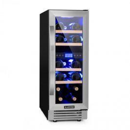 Klarstein Vinovilla Duo17 kétzónás borhűtő, 53 l / 17 palack, 3 színű LED, üvegajtó
