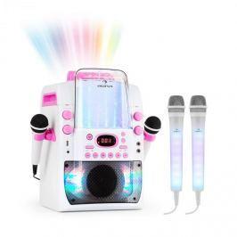 Auna Kara Liquida BT karaoke rendszer, rózsaszín + Dazzl karaoke mikrofon készlet, LED megvilágítás