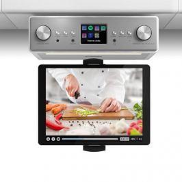 """Auna Connect Soundchef, konyhai rádió tablettartóval, készlet, DAB+, FM, 2x3"""", fehér"""