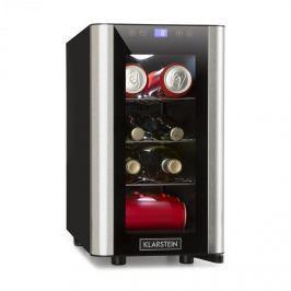 Klarstein Vinovista Picollo hűtőszekrény italokra, 24 l/8 üveg, LED, üveges ajtó, nemesacél