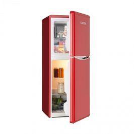 Klarstein Monroe L hűtőszekrény fagyasztóval, 70l/38l, retró dizájn, piros