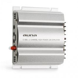Auna C300.2, kétcsatornás erősítő, végerősítő autóba, 800W PMPO, 200W RMS, ezüst