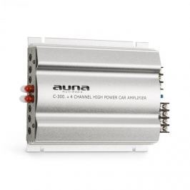 Auna C300.4, négycsatornás erősítő, végerősítő autóba, 1200W PMPO, 300W RMS, ezüst